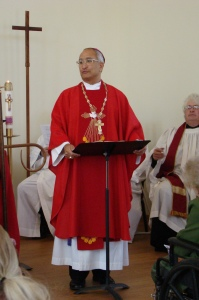 Bishop Gregory Ortiz preaching