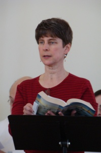 Dr. Mary Pearson reading a lesson